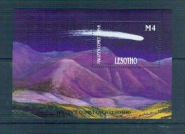 T06 Lesotho 1986 Halley Sheetlet MNHBOX-16 - Space