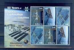 Liberia National Space Station T09 2008 Souvenir Sheet MNH - Space