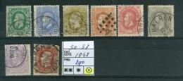 N° 30-37  Obl  -1 / 1869-1883 - 1869-1888 Lion Couché