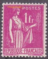France Type Paix N°  369 ** De La 3ème Série Le 1fr Rose - 1932-39 Paix