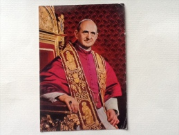2 Cartoline Papa Paolo VI Non Viaggiate Formato Grande - Papi