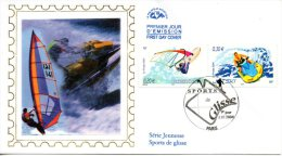 FRANCE. N°3693 & 3698 De 2004 Sur Enveloppe 1er Jour (FDC). Planche à Voile/Jet-ski.