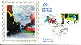 FRANCE. N°3695 & 3700 De 2004 Sur Enveloppe 1er Jour (FDC). Luge/Roller. - Skateboard
