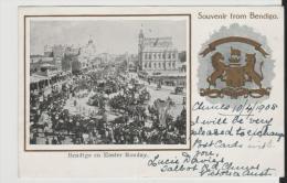 Vic169/ Souvenier Card Bendigo. Easter Monday 1905 Sent To Spain - Bendigo