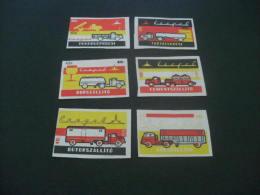 412- Hinged  Hungary - MSZ -transportation Trucks - Matchbox Labels
