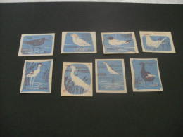426- Hinged  Hungary -  MSZ  -birds  - Blue - Matchbox Labels