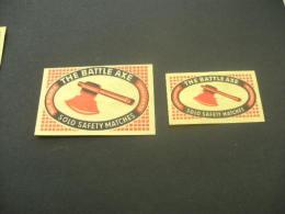 469- Hinged - Austria - Autriche -the Battle Axe - Matchbox Labels