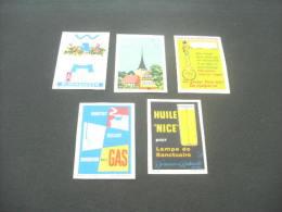 480- Hinged - Denmark -  Moderne Me Dgas , Hurtiger Ekspedition, Svaneke,huile Nice , Asbestona  Bloembakken - Boites D'allumettes - Etiquettes