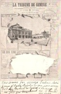 SUISSE LA TRIBUNE DE GENEVE CARTE PRECURSEUR CIRCULEE 1906 - GE Ginevra