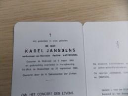 Doodsprentje Karel Janssens Stabroek 6/3/1904 Brasschaat 25/9/1989 ( Paulina Van Bouwel ) - Religion & Esotericism