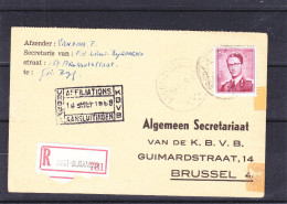 Belgique - Document Recommandée De 1959 - Oblitération Groot Bijgaarden - Lettres & Documents