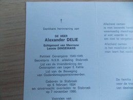 Doodsprentje Alexander Delie Stabroek 6/2/1924 - 7/11/1996 ( Leonie Dingemans ) - Religion & Esotérisme