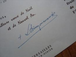 Louis SIMONNEAUX (1916-2009) évêques VERSAILLES - Autographe - Autógrafos
