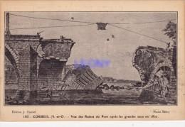 CPA De CORBEIL ESSONNES (91) -  Vue Des Ruines Du Pont Après Les Grandes Eaux En 1802 - édit J. TAUVEL - Corbeil Essonnes