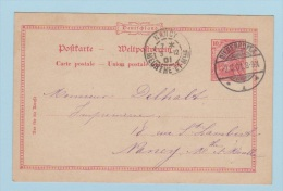 ALLEMAGNE   //  Entier Postal  //  De Diedenhofen  //  Pour Nancy    // 3/12/1901 - Deutschland