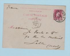 BELGIQUE    //  Entier Postal  //  De Bruxelles    //  Pour Lille      // 12 Avril 1886 - Cartoline [1871-09]