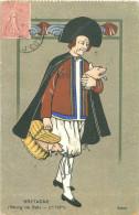 CPA       Bretagne  Bourg De Batz  Homme Panier Cochon      1347 - Batz-sur-Mer (Bourg De B.)