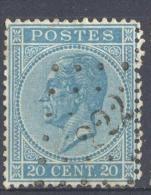 _5Bm-919: N° 18: Get. 14½x 14:  Ps: 222:  LOKEREN - 1865-1866 Profil Gauche