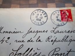 Cachet Manuel De Mazeres Arieges - Marcophilie (Lettres)