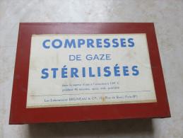 Boite En Fer Blanc 10x14x4 Cm Compresses De Gaze Stérilisées En TBE - 1914-18