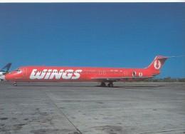 WINGS AIR, MD-82, Unused Postcard [15974] - 1946-....: Moderne