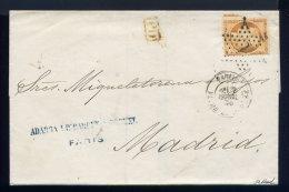Lettre De Paris Pour Madrid 1875 - 1849-1876: Période Classique