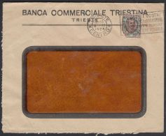 "Italy 1924, Cover Trieste To Zagreb W./postmark Trieste, Perfin ""B.C.T."" - 1900-44 Vittorio Emanuele III"