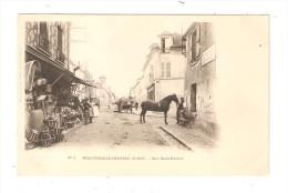 CPA : 78 :  NEAUPHLE LE CHATEAU : RUE SAINT NICOLAS : Maisons - Attelage - Cheval . - Neauphle Le Chateau