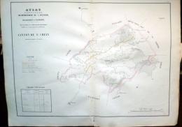 12 AVEYRON GRANDE CARTE 19° DU CANTON DE SAINT CHELY AVEC  CONDOM AUNAC AUBRAC ETC... - Cartes Géographiques