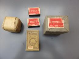 Trés Beau Lot Tabac, 12 Pochettes D'allumettes De Sécurité Et 4 Cigares Ordinaires Français - 1939-45