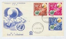 Mali ATMOSPHERE BALLOON WEATHER METEOROLOGY FDC 1963 - Climate & Meteorology