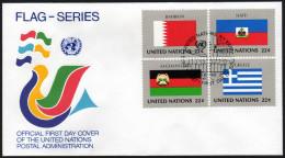 UNO NEW YORK 1987 - Flaggen UNO Mitgliedsstaaten - FDC - Briefe