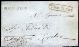 Manduria-00412 - Piego (con Postale Testo) Del 26 Aprile 1858 - - Italia