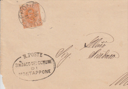 ITALIA  1896 - Lettera Con Sassone  61 - Da Montappone A Montegiorgio - 1878-00 Umberto I