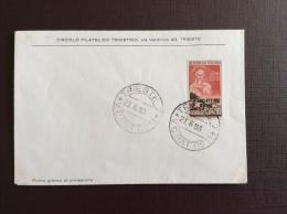 TRIESTE AMGFTT  1953 -  SANTA CHIARA D'ASSISI SU FDC - 7. Trieste
