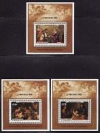 Penrhyn Island #331-33 S/Sheets F-VF Mint NH ** Christmas 1985 - Penrhyn