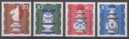 Berlijn - Wohlfahrt: Schachfiguren - MNH/postfris - Michel 435-438 - Schaken
