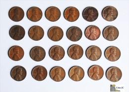 US - Lote De 24 One Cents - Varias Fechas - Estados Unidos