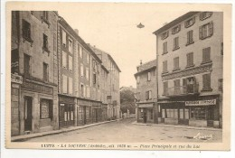 07 - LA LOUVESC (Ardèche) - Place Principale Et Rue Du Lac - éd. Léon Margerit Léma N° 11279 - La Louvesc