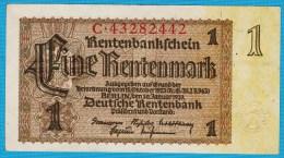 DEUTSCHES REICH  1 RENTENMARK 30.01.1937 Alpha C  P#173b - Unclassified