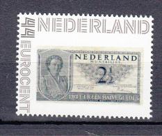 Nederland Persoonlijke Zegel Variant: 2,50 Gulden Op Postzegel, Banknote On Stamps - Unused Stamps