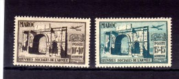 "MAROC  1950  MNH  -  "" OEUVRES SOCIALES DE L´ARMEE ""  -  2  VAL. - Maroc (1891-1956)"