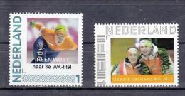 Nederland Persoonlijke Zegel Variant: Schaatsen Irene Wust + Sven Kramer - Ungebraucht