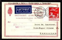 1930. Air Mail. 25 øre Red KØBENHAVN LUFTPOST 2 15.5.30. Mit Luftpost Befördert Postamt... (Michel: 145) - JF103862 - Danemark