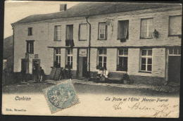 CORBION - Le bureau de poste et l'h�tel Mercier-Pierret. Obl. 1905. Postkantoor Service postal Postes