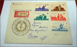 DDR - 6 Jahre NVA, Satz A. Eilbrief  - 1962   Used RARE ITALIA - [6] Repubblica Democratica