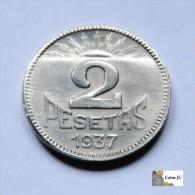 2 Pesetas - Consejo De Asturias Y León - Avilés - [ 2] 1931-1939 : República