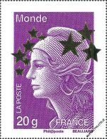 YT4662L  FRANCE An.2012 Neuf  Maxi Marianne Monde 20g - Francia