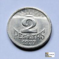 2 Pesetas - Consejo De Asturias Y León - 1937 - Guernica - [ 2] 1931-1939 : República