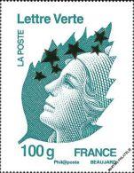 YT4662P FRANCE An.2012 Neuf  Maxi Marianne Lettre Verte 100g - Francia